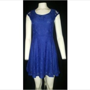 Candies Dress Womens Blue Size Small S Cap Sleeve